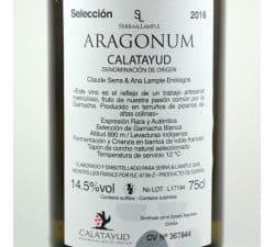 ARAGONUM BLANC CALATAYUD ESPAGNE